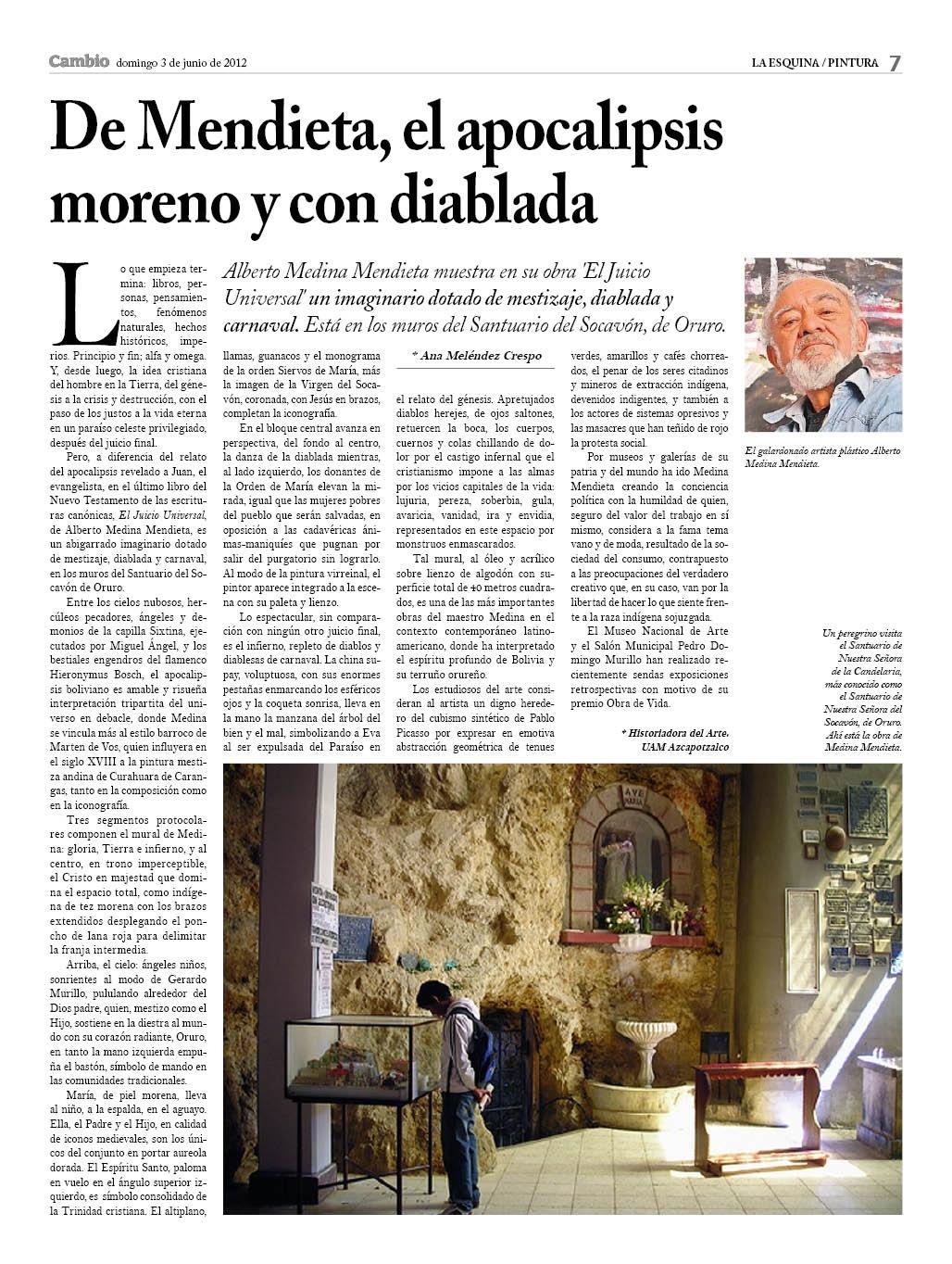 De Alberto Medina el apocalipsis moreno y con diablada