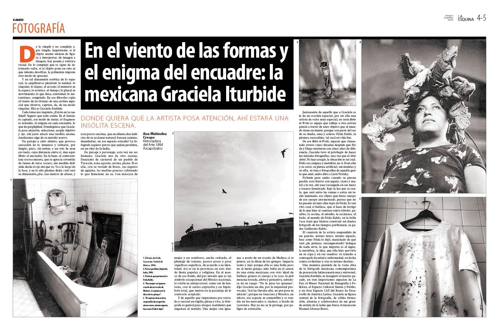 En el viento de las formas y el enigma del encuadre; la mexicana Gabriela Iturbide