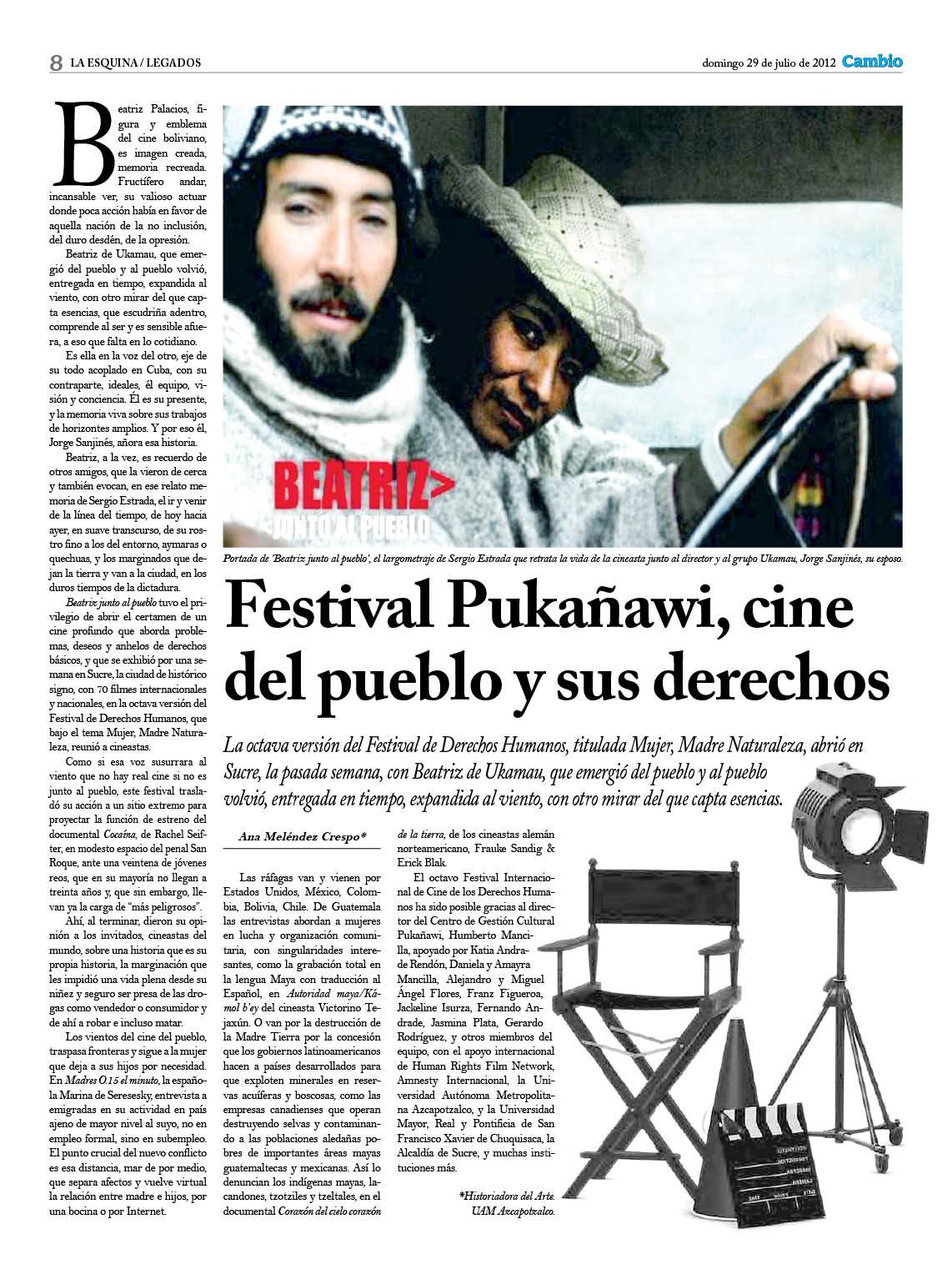 Festival Pukañawi Festival del pueblo y sus derechos