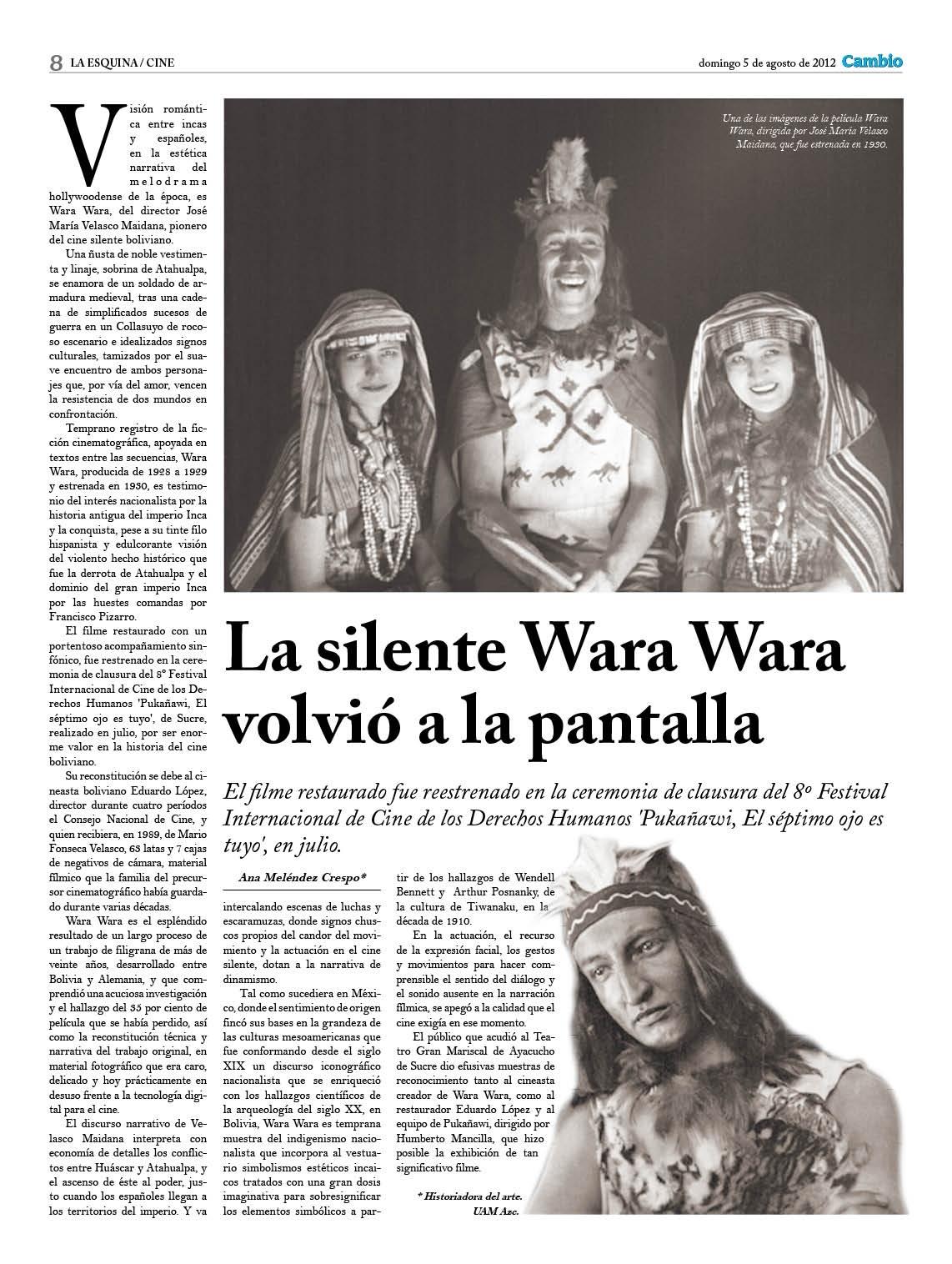 La silente Wara Wara volvió a la pantalla