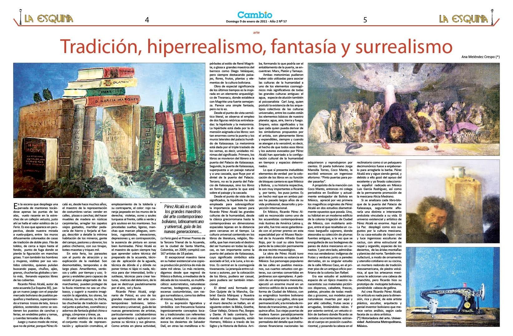 Tradición hiperrealismo, fantasía y surrealismo
