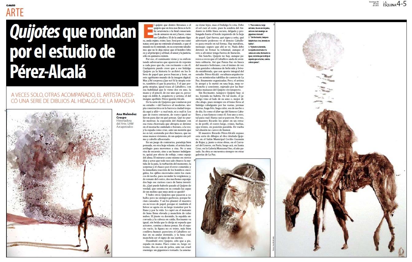Quijotes que rondan por el estudio de Peérez Alcala