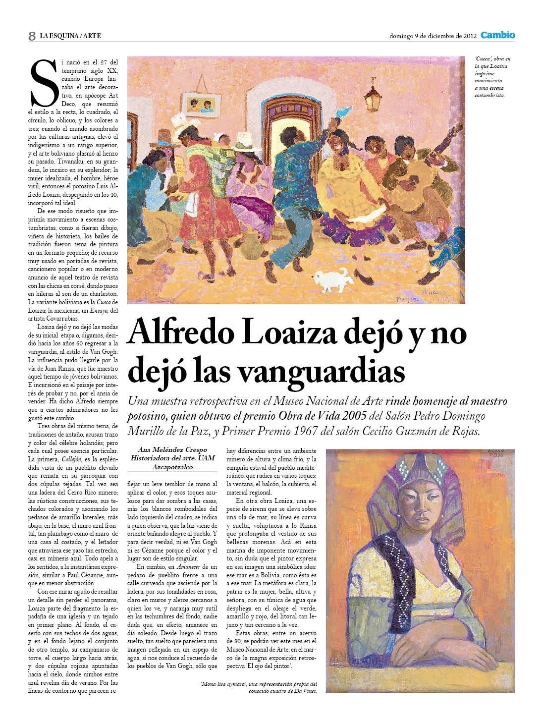 Alfredo Loaiza dejó y no dejó las vanguardias