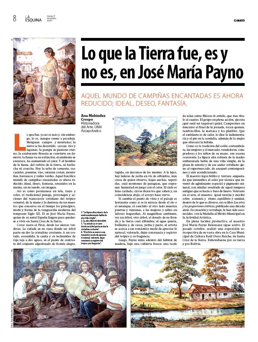 Lo que la Tierra fue, es y no es en Jose Maria Payno