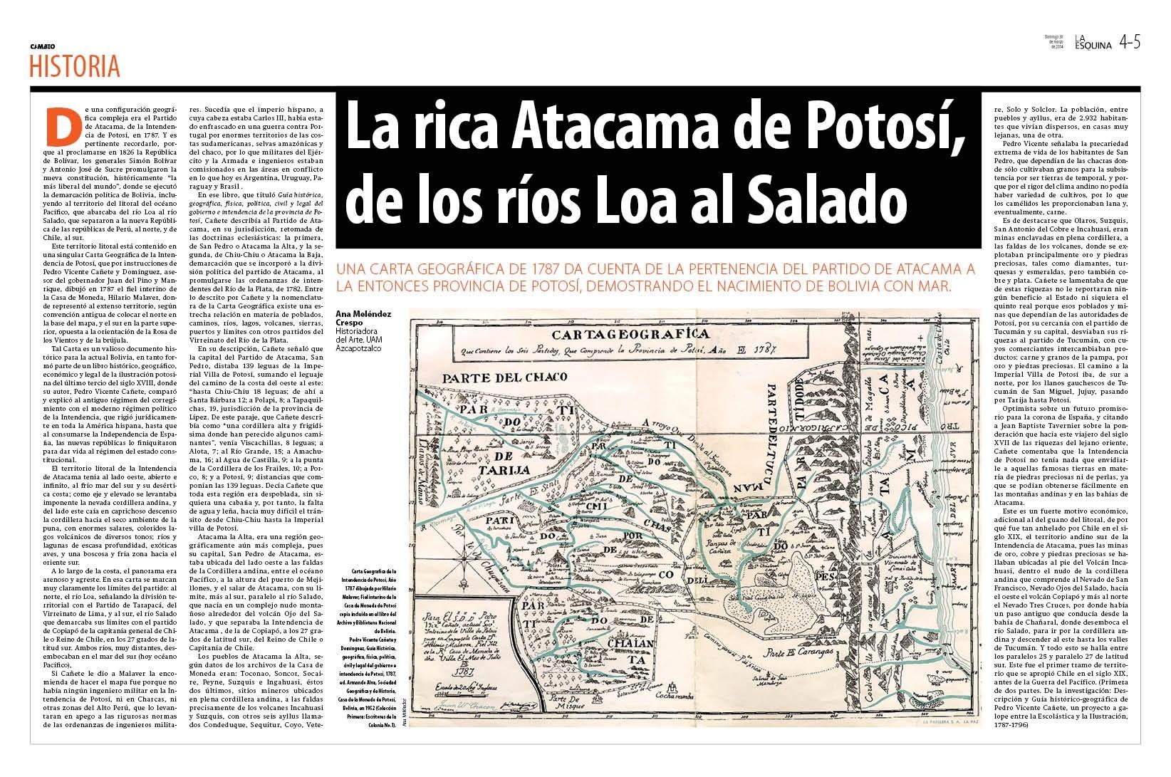 La rica Atacama de Potosí, de los ríos Loa al Salado