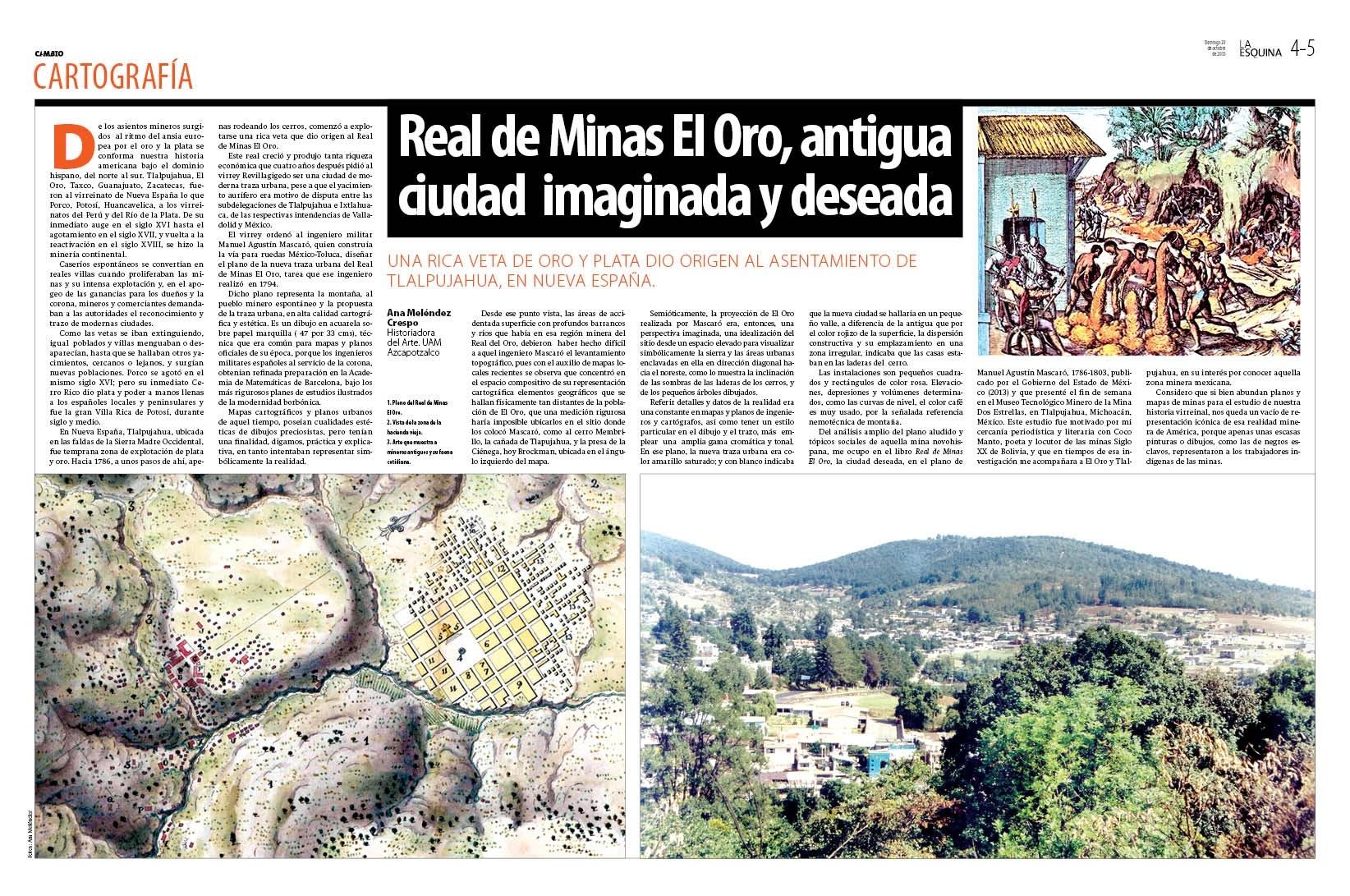 Real de Minas El Oro, antigua ciudad imaginada y deseada