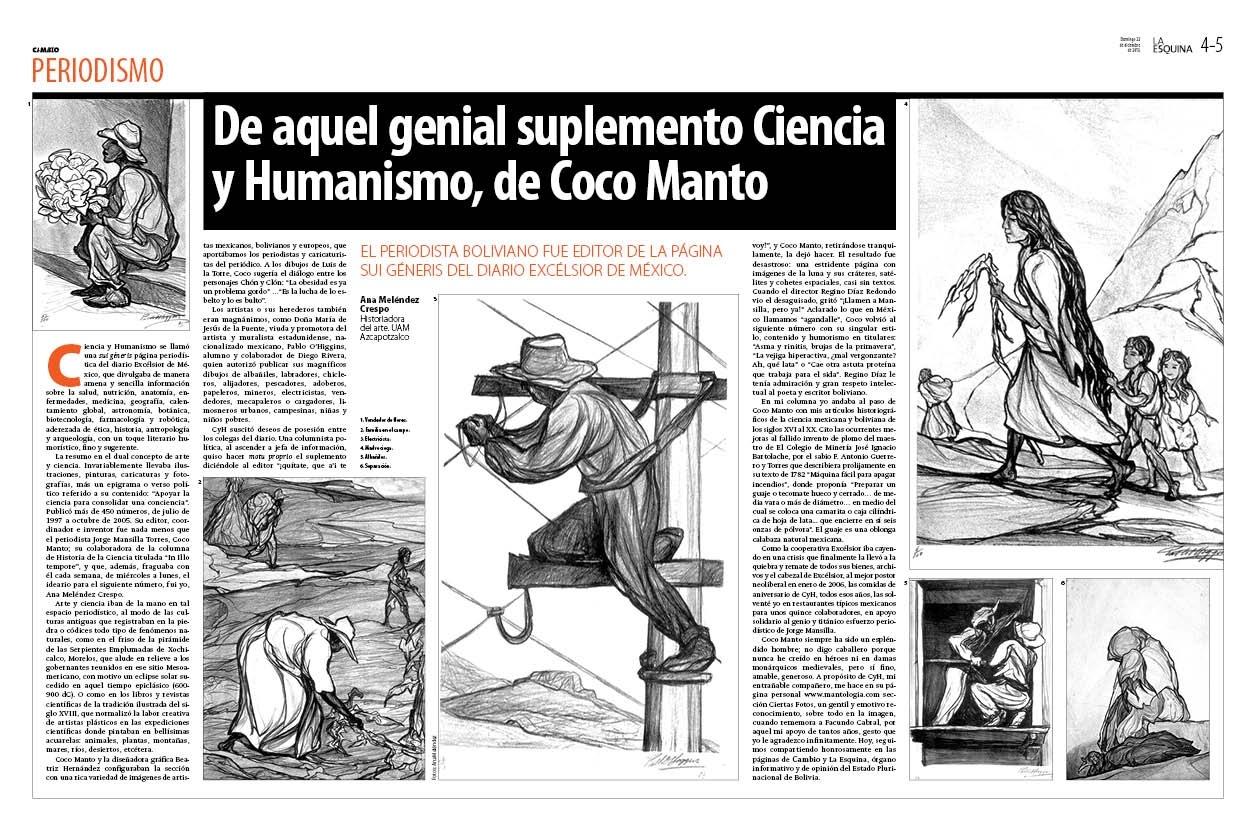 Aquel genial suplemento de Ciencia y Humanismo de Coco Manto