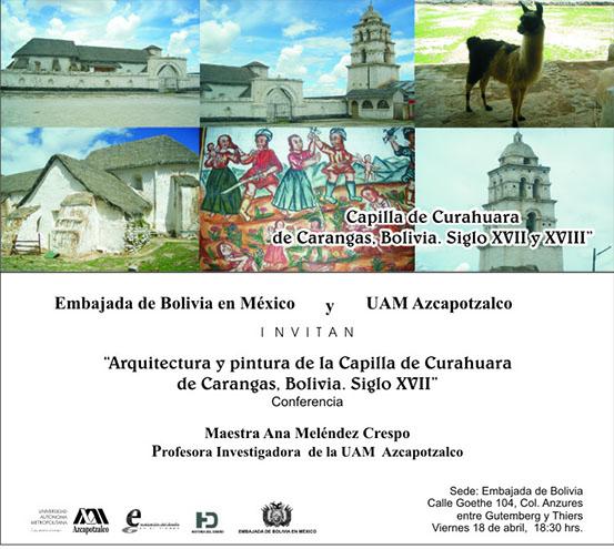Invitación Exposición Capilla Curahuara de Carangas